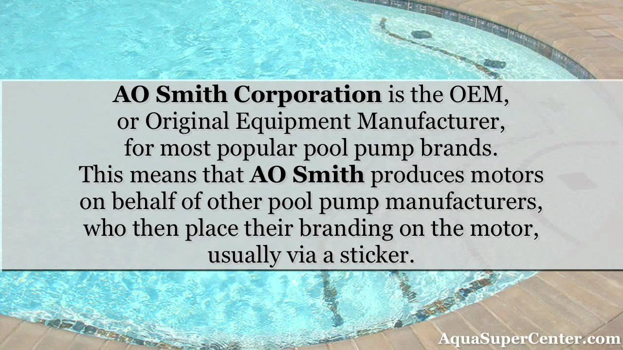 Ao smith pool pump motors youtube for Ao smith pump motors