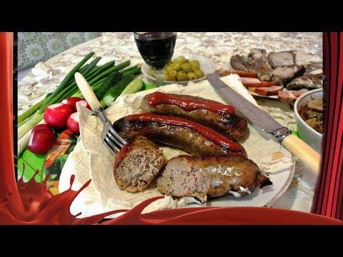 Рецепт домашних  сочных купат /// Купаты из свинины.