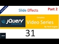jquery series (Hindi) - 31 (part2) How to use slide effects ?