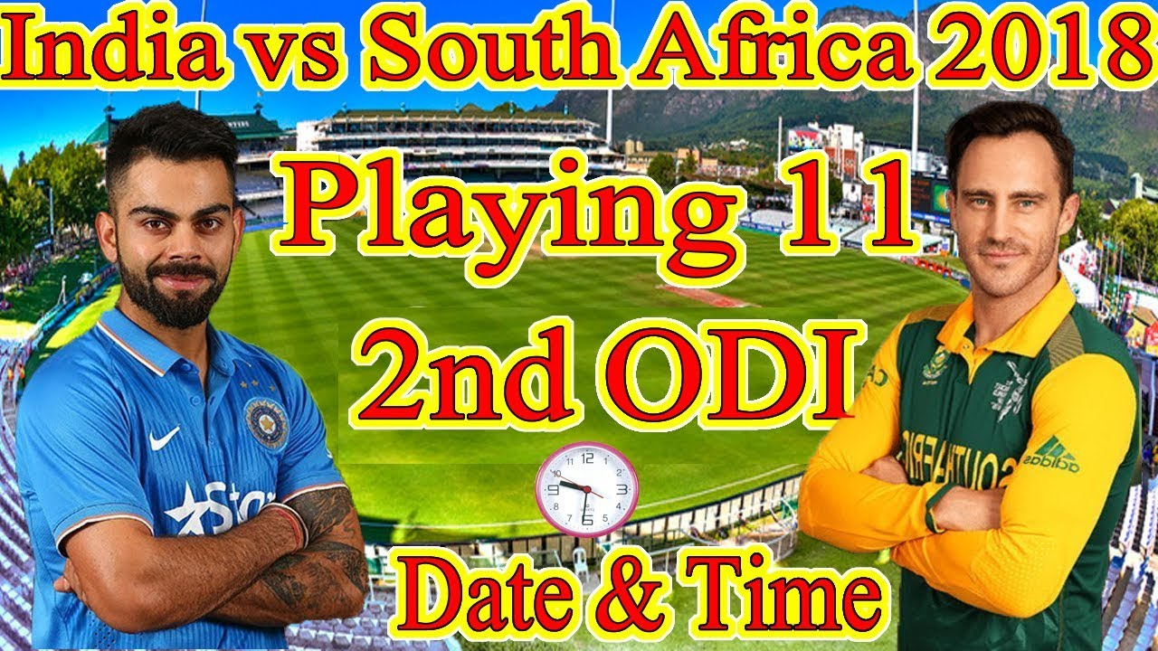 India vs south africa 2nd odi match date