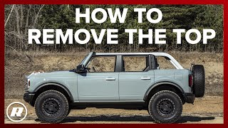 How to remove the top off of the Ford Bronco