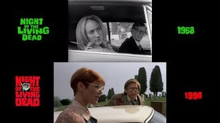 Night of the Living Dead (1968/1990) side-by-side comparison