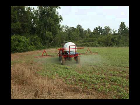 Spraying Post Emergent Herbicide on Soybeans