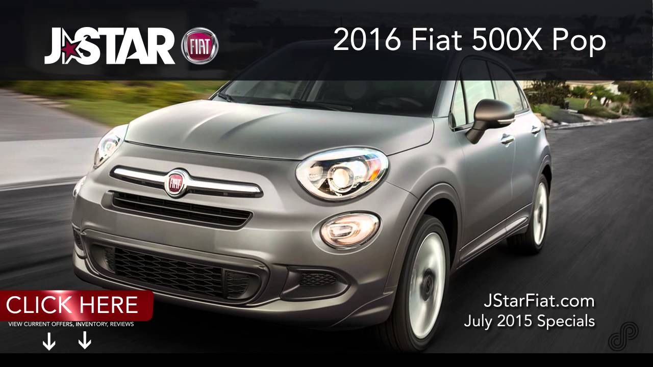 2016 FIAT 500x Pop CTA July J Star Fiat - YouTube