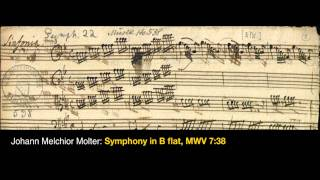 Johann Melchior Molter / Symphony in B flat major for Strings and Continuo, MWV 7:38