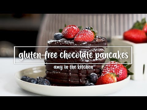 Gluten-Free Chocolate Pancakes with Hot Chocolate Sauce!