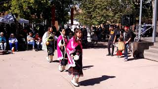 INDIGENOUS PEOPLES DAY 2019 - SANTA FE, NM  - Ohkay Owingeh Women Bow & Arrow Dance Round 2