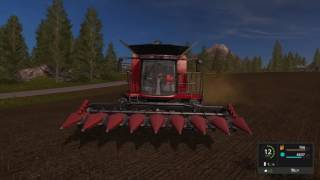 farming simulator 2017 case ih axial flow 7130 harvest of sunflowers 4