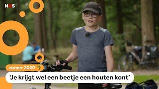 Douwe fietst over het langste pad van Nederland