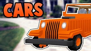 DRIVEABLE CARS in Minecraft Pocket Edition - Jeeps Addon (Windows 10 Edition)