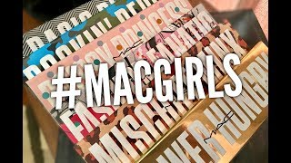 MAC Cosmetics #MACGirls Palettes Swatches and Tutorial