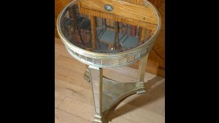 Art Deco Mirrored Side Table Tables Furniture