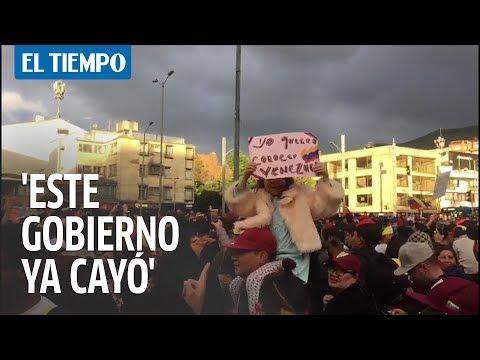 El grito de los venezolanos en Bogotá | EL TIEMPO