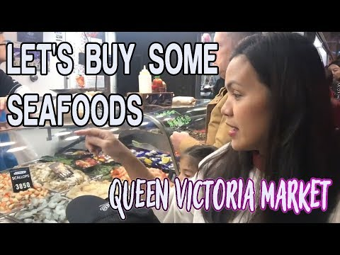 Let's Buy Some Seafood At Queen Victoria Market MELBOURNE | Pinay In Australia