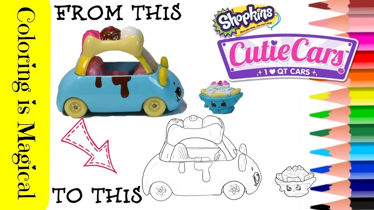 Shopkins banana split trip qt2 34 toy cutie car coloring page shopkins video color cutie cars