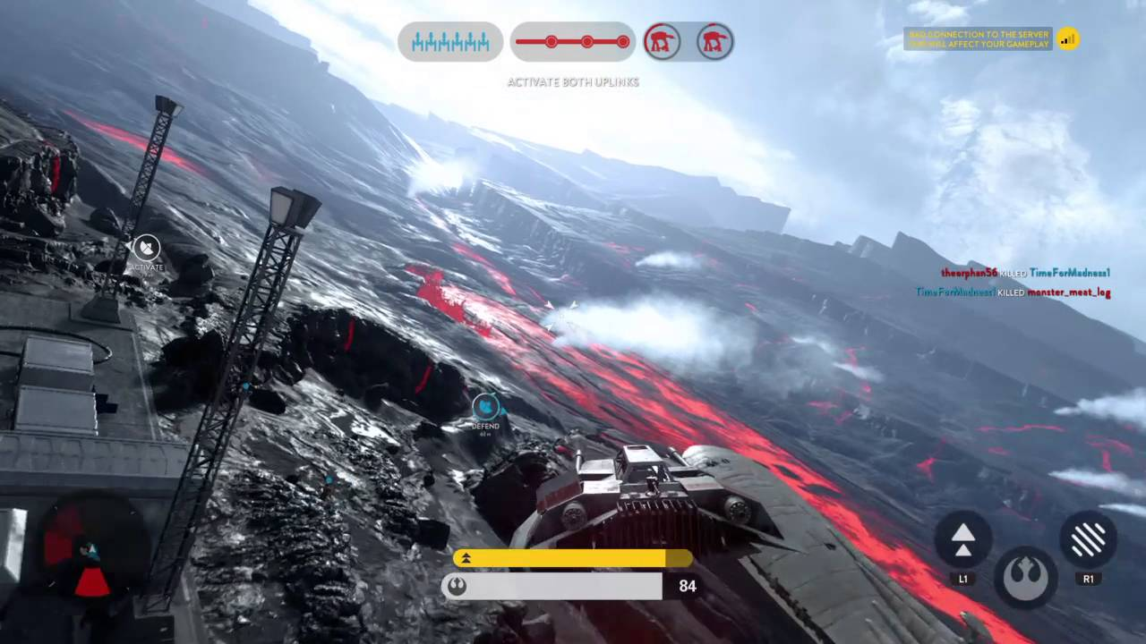 AT-AT destroyed by trip wire - YouTube