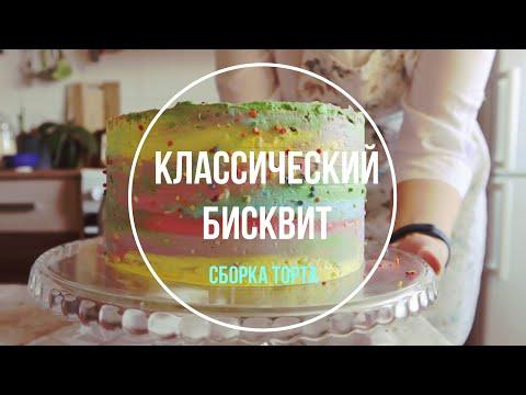 Бисквит рецепт. Сборка торта / Самый простой рецепт