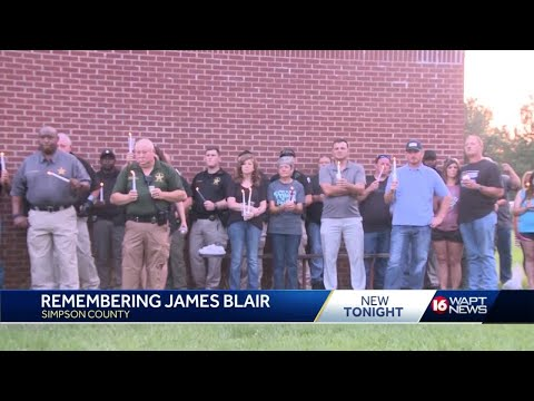 Simpson Central School holds candlelight vigil for slain deputy James Blair