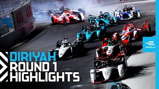Race Highlights | 2021 Diriyah E-Prix Round 1 | NIGHT RACE!