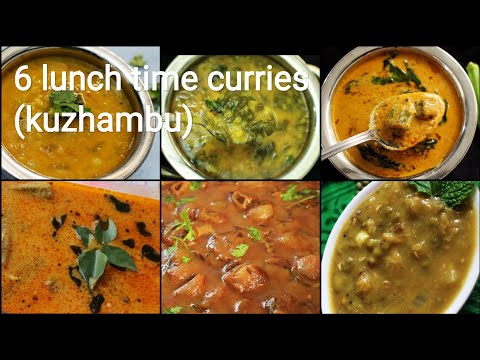 6 Lunch Time Curry Recipes - Kulambu Recipes - Kuzhambu Recipes - Curry Recipe - Curry For Rice