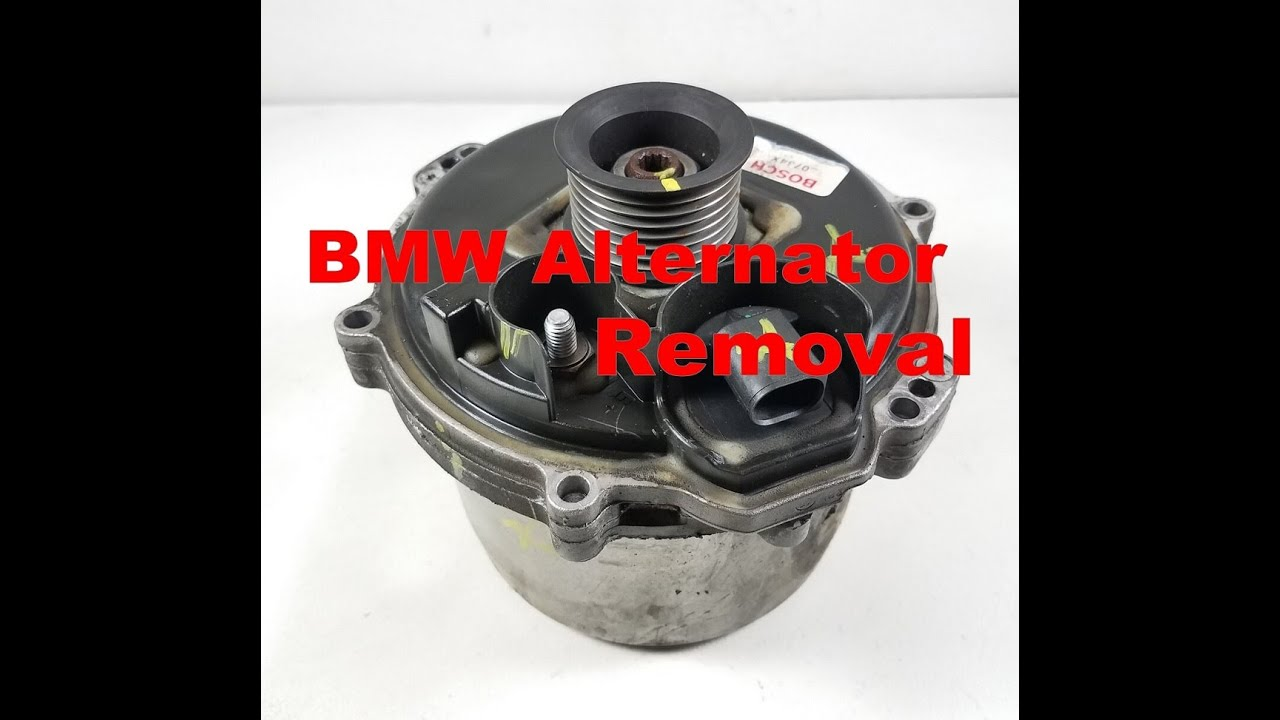 00-03 BMW X5 740 540i Water Cooled Alternator Removal - YouTube