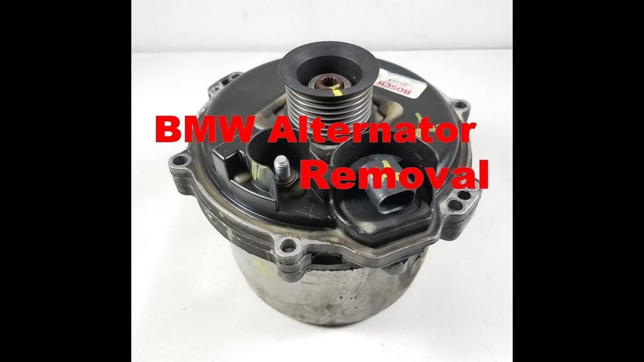 I Engine Diagram 00 03 Bmw X5 740 540i Water Cooled Alternator Removal