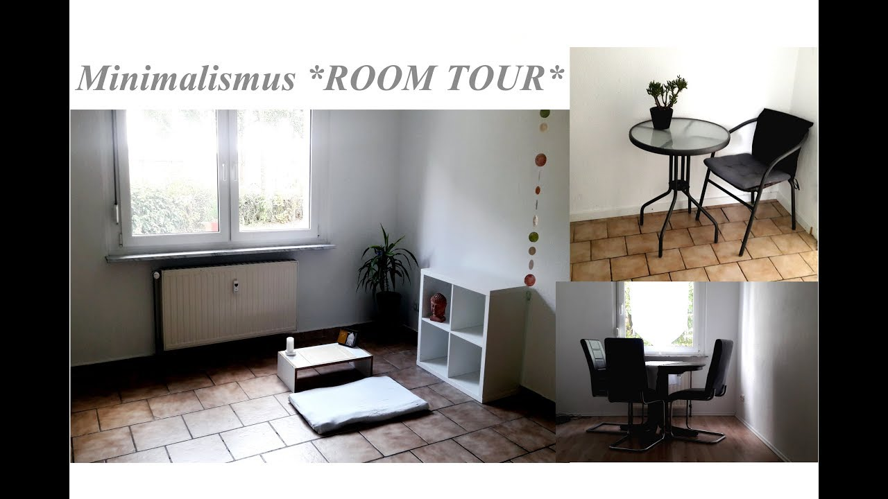 Minimalismus room tour minimalistisch wohnen youtube