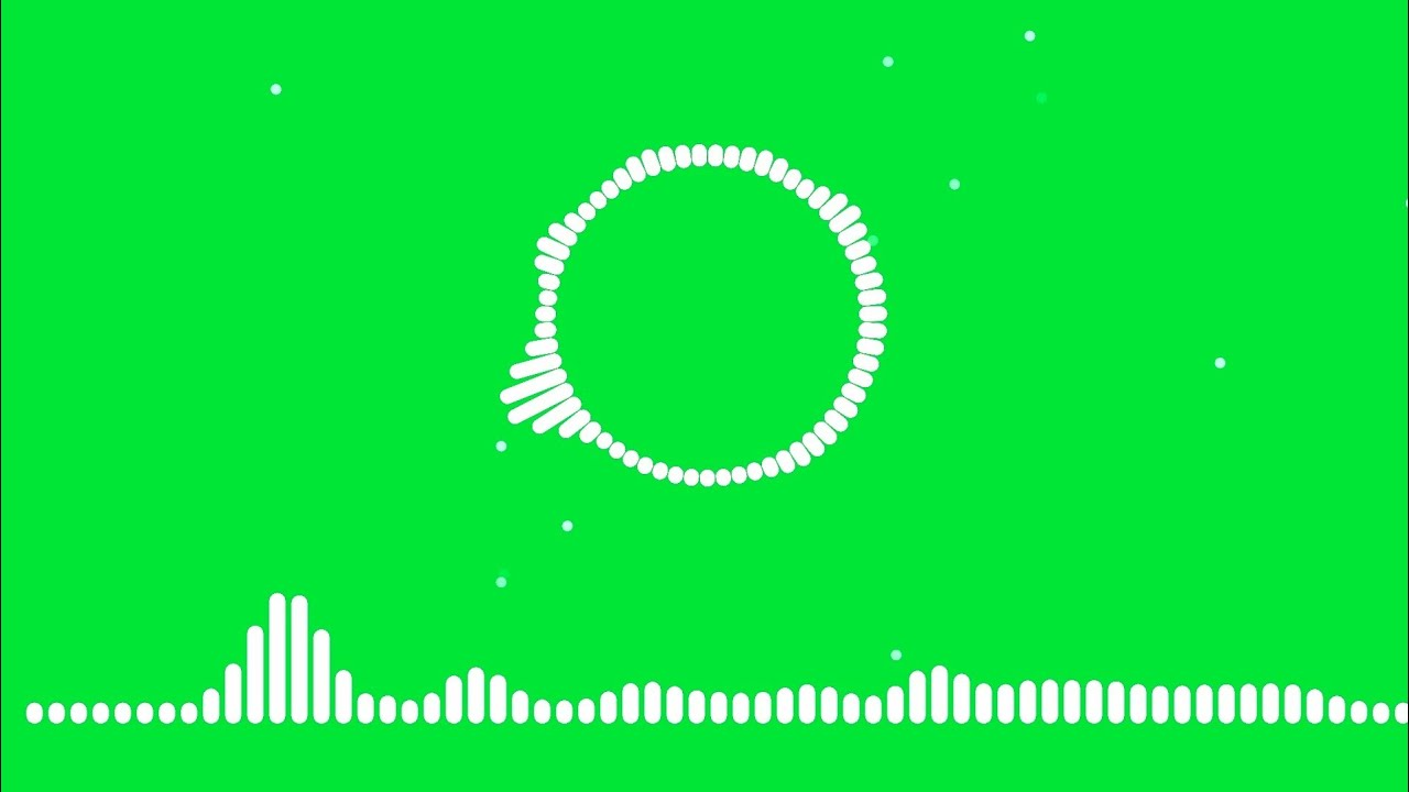 Audio Spectrum Visualizer Green Screen | green screen audio spectrum |  Audio Spectrum Template