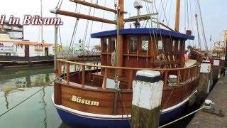 Museumshafen Büsum - Hier ein kurzer Blick auf das Hafenbecken 1  Full HD