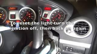 Renault Clio 3 Service Light Reset