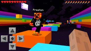 MINECRAFT SUPER RAINBOW PARKOUR RUN with PrestonPlayz & Logdotzip!