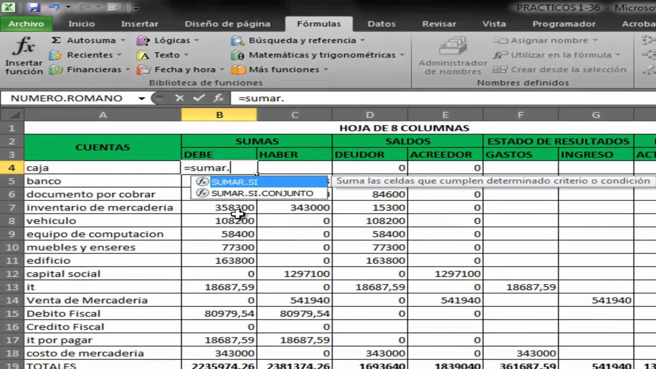 manual de excel contable pdf