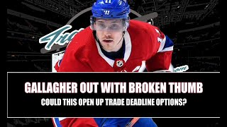 Brendan Gallagher Injury Could Open Door For Montreal Canadiens Ahead Of 2021 NHL Trade Deadline