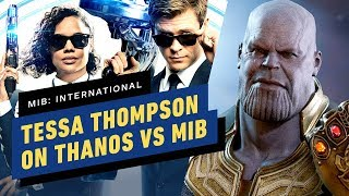 Tessa Thompson on Who Would Win: Thanos or The MIB!?