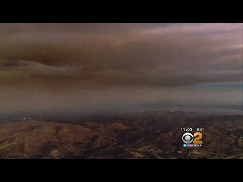 Holy Fire Sends Up Smoke, Ash Over Orange, Riverside Counties