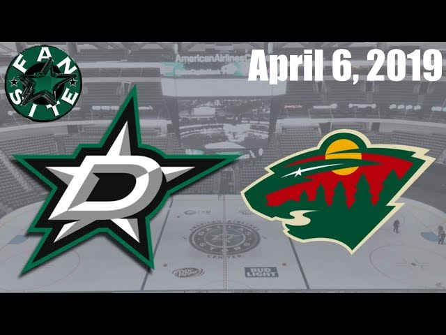 Dallas Stars Vs Minnesota Wild | April 6 2019