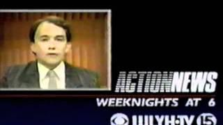 "WLYH TV 15 (Lancaster/Lebanon PA) - ""Action News"" promo (version 6) - 1991"