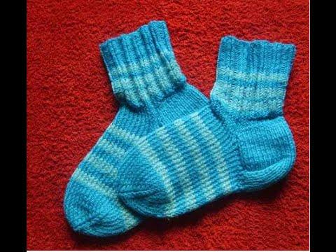 Вяжем детские носки