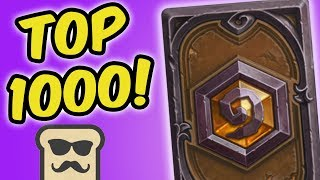 TOP 1000 LEGEND WITH RNG SHAMAN! | HEARTHSTONE | DISGUISED TOAST