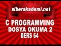 C Programming Dosya Okuma 2 Ders 64