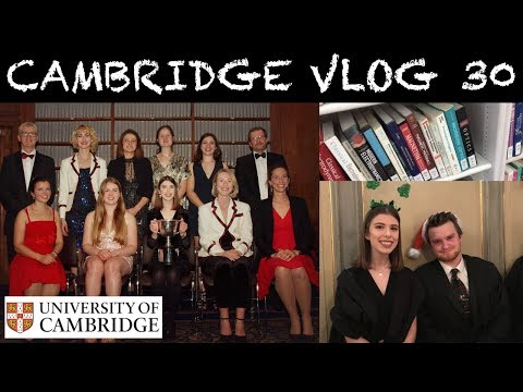 CAMBRIDGE VLOG 30: CHRISTMAS CAROLS AND A NEVER-ENDING LAB REPORT