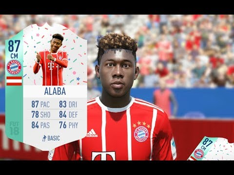 CENTER MIDFIELD DAVID ALABA FUT BIRTHDAY CARD REVIEW - IS HE WORTH IT? - FIFA 18 ULTIMATE TEAM