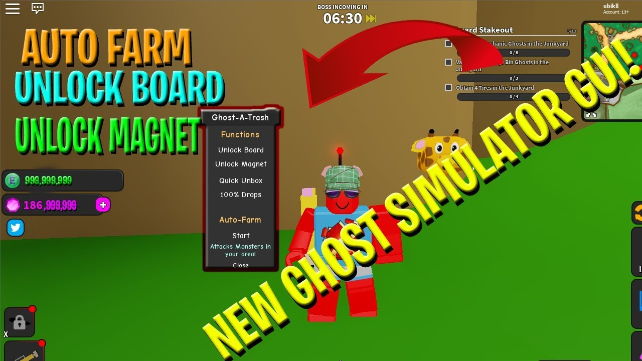 ROBLOX NEW GHOST SIMULATOR GUI ! [ OP ! ] [Script in desc ]