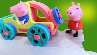 Мультик с игрушками Свинка Пеппа  ищет Сюрпризы на Детской площадке