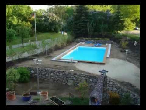 Swimming Pool Bau Mit Berdachung Pool Berdachung Youtube