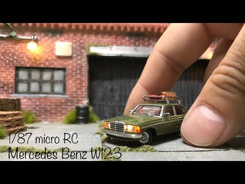 1/87 micro RC / Busch Mercedes Benz W123 - Completed video with making photos.