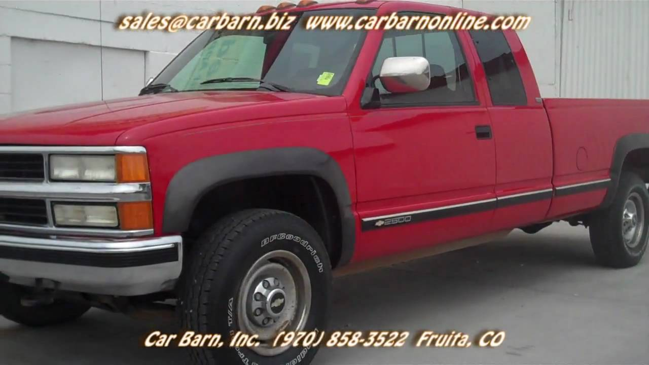 Sold 1994 chevy k2500 xcab 4x4 at car barn in fruita co near grand junction