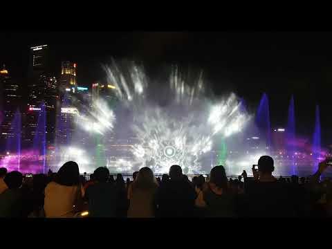 Spectra Light & Water Show Marina Bay Singapore 2018 Full HD