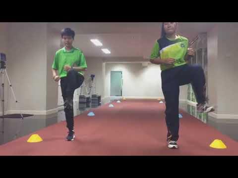 การอบอุ่นร่างกายโดยโปรแกรม FIFA The11+ คณะวิทยาศาสตร์การกีฬามหาวิทยาลัยเกษมบัณฑิต