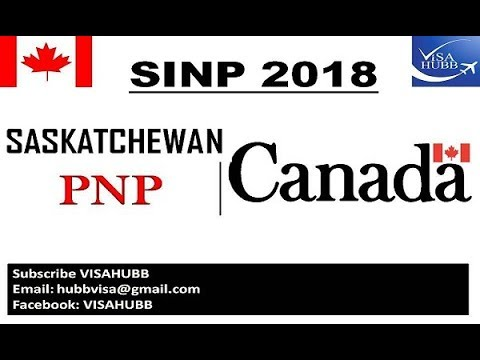 SINP PNP CANADA 2018
